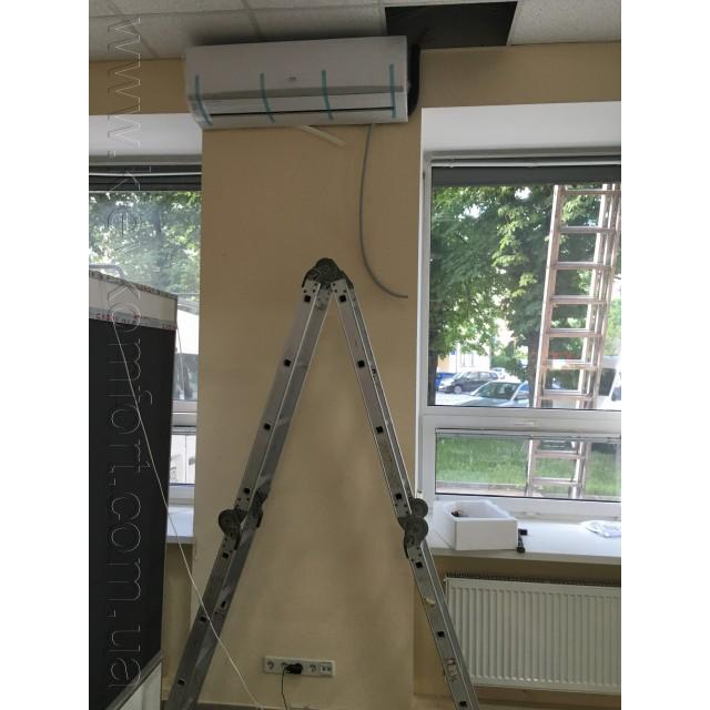 Монтаж внутреннего блока настенного кондиционера фото №18