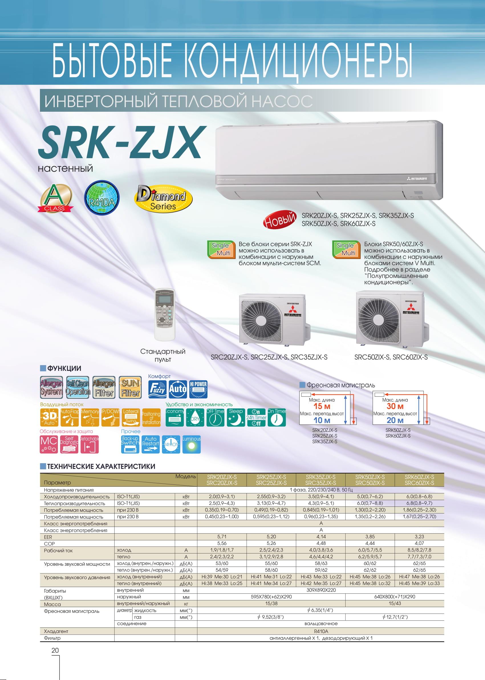 бытовая серия SRK-ZJX Mitsubishi heavy